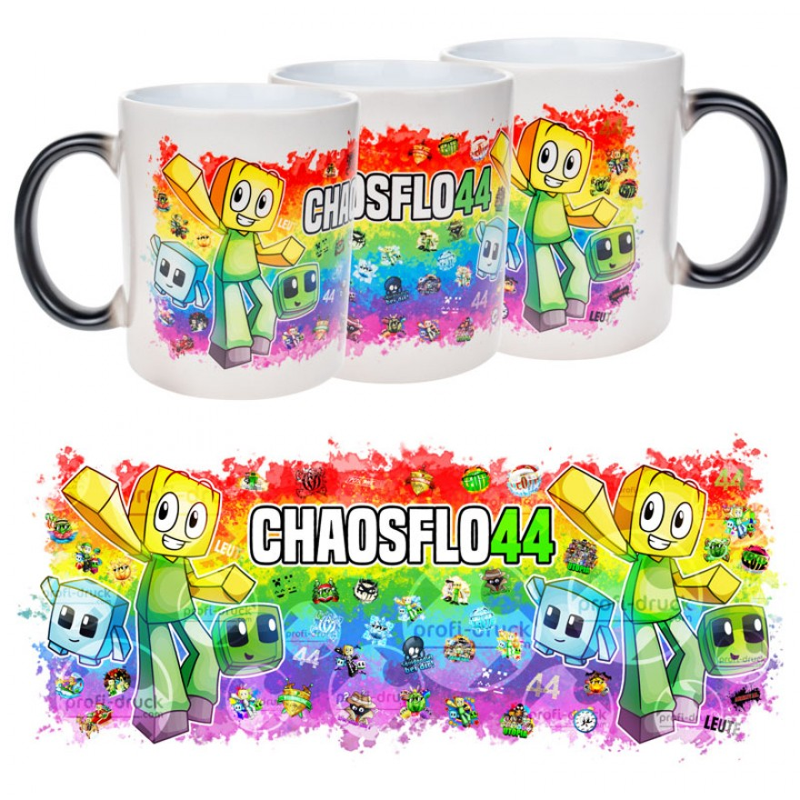 CHAOSFLO44 Magic-Tasse schwarz (Bi-Color)