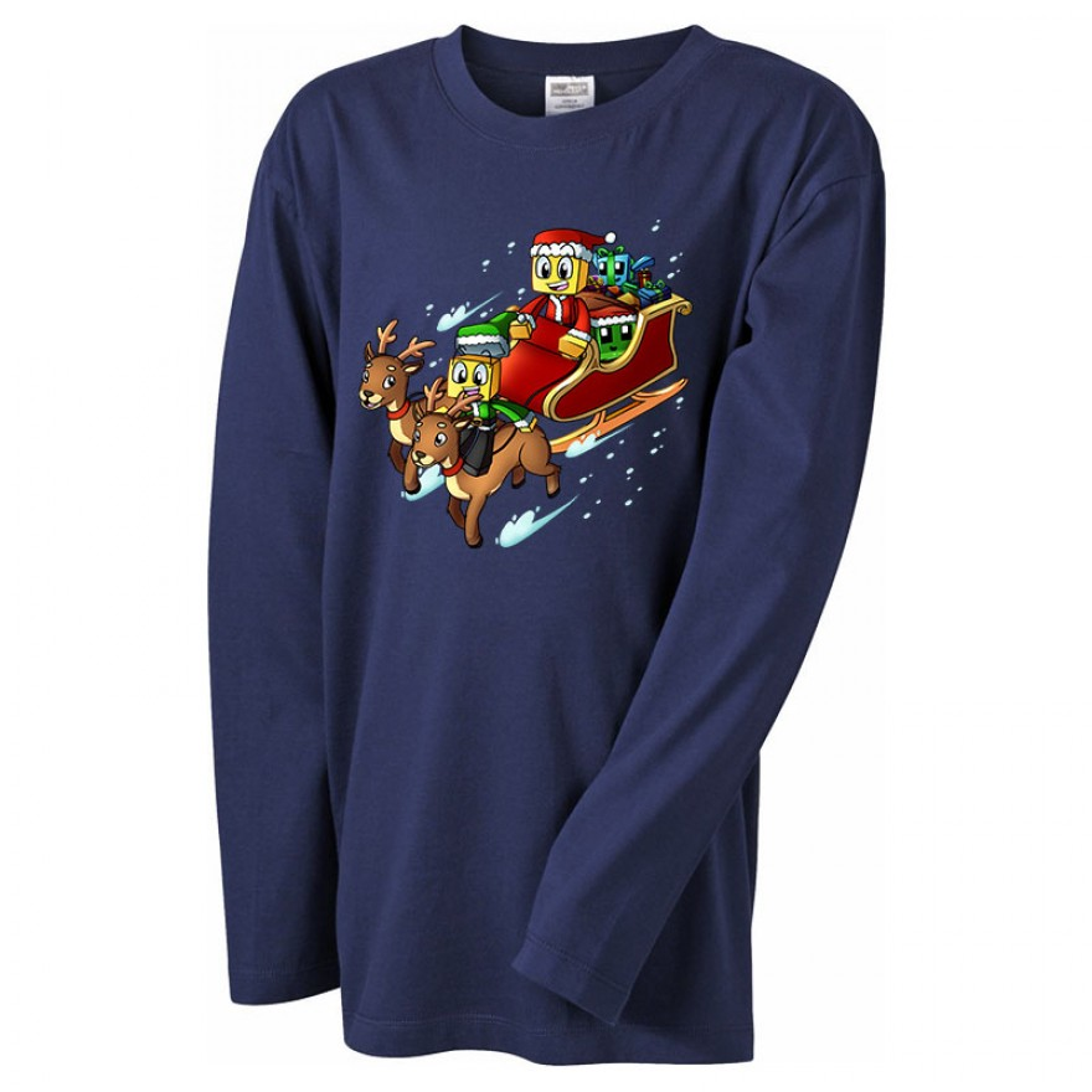 SCHLITTEN Weihnachts-Langarm-Shirt